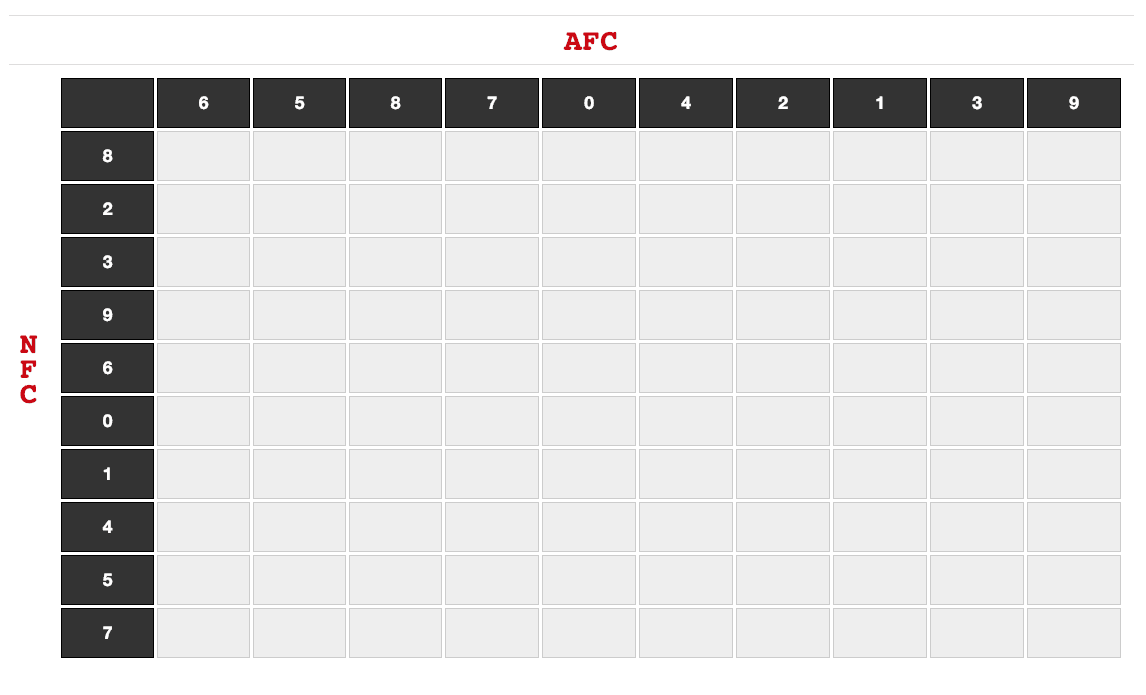 This is an image of Clever Football Squares Printable