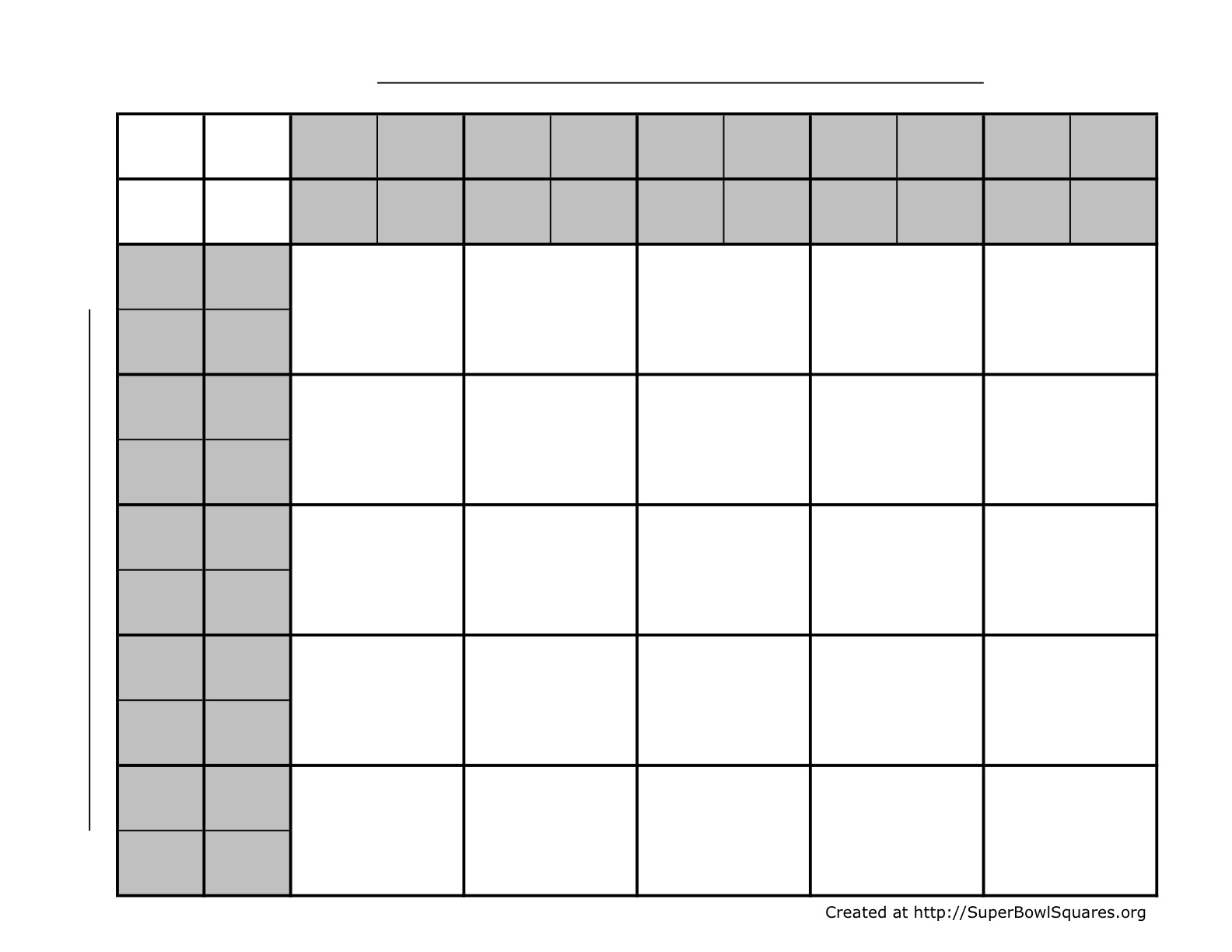 graphic about Football Squares Printable identify Printable Soccer Squares Sheets